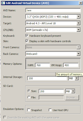 Edit Virtual Device