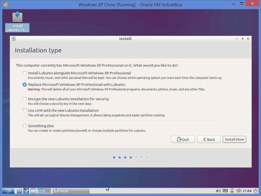 xp manual windows install