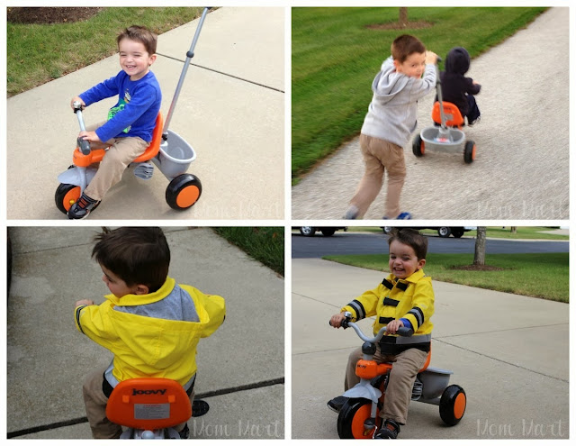 The many faces of the Joovy Tricycoo Tricycle - learning to ride a tricycle