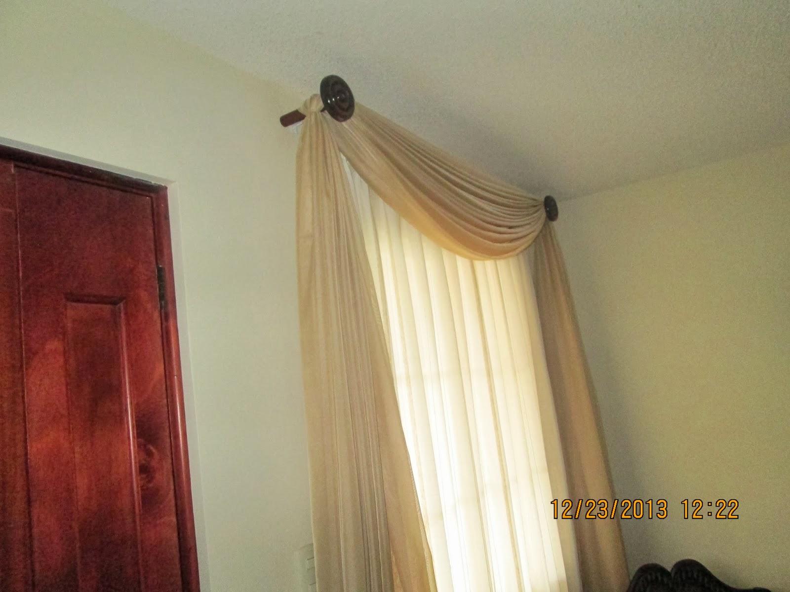 El vestidor de ventanas for Bases para colgar cortinas