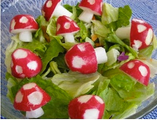 Radish idea mushrooms