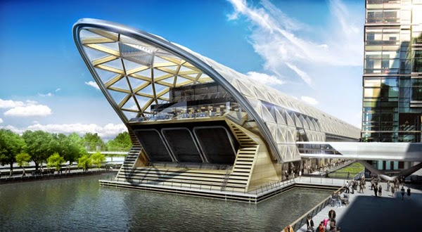 Canary Wharf Station Crossrail por TFL
