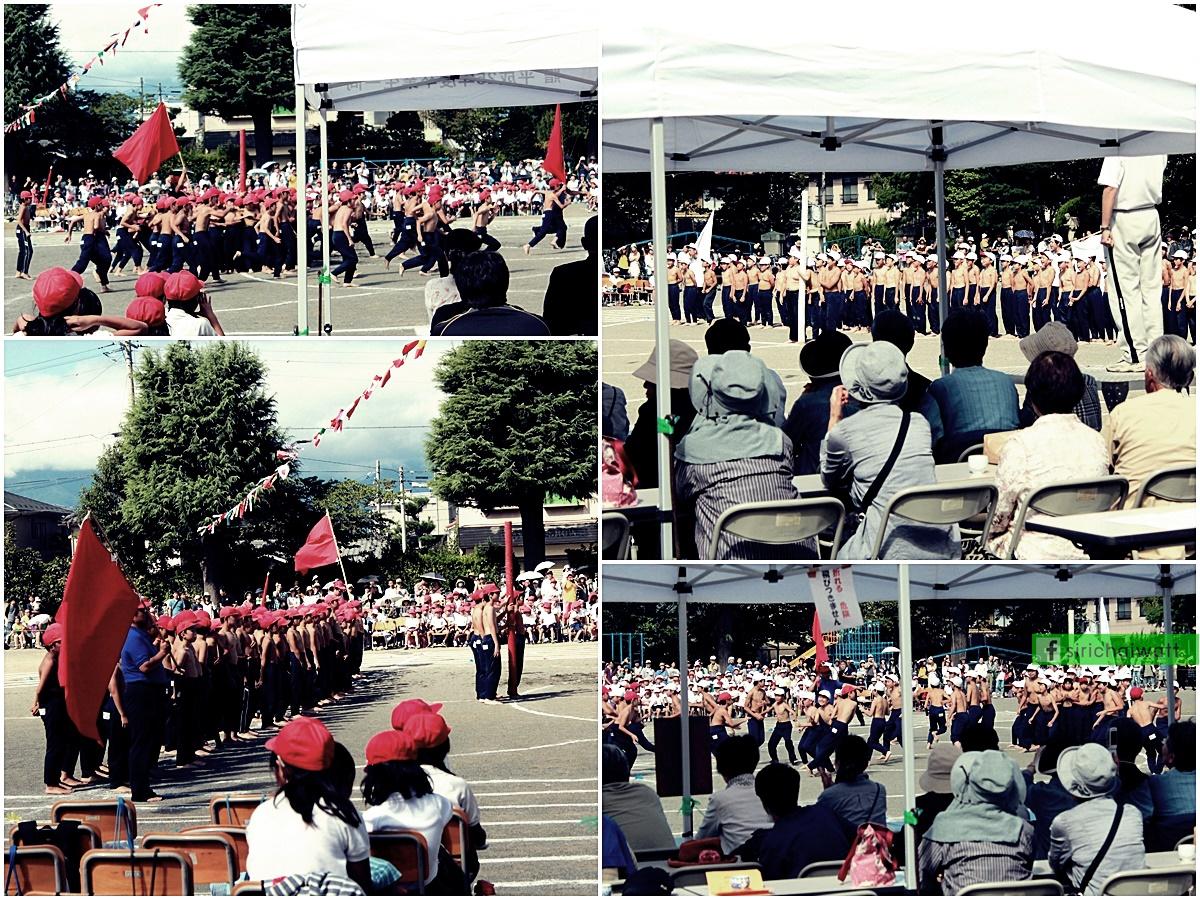 เด็กผู้ชายแข่งเกมส์ ล้มเสา,ชิงเสา (Botaoshi, 棒倒し) ในกีฬาสี โรงเรียนประถม ประเทศญี่ปุ่น