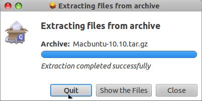 Install MacBuntu di Ubuntu 12.04 LTS - Muncul dialog