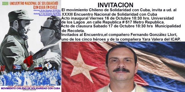 XXIII Encuentro Nacional de Solidaridad con Cuba en Chile