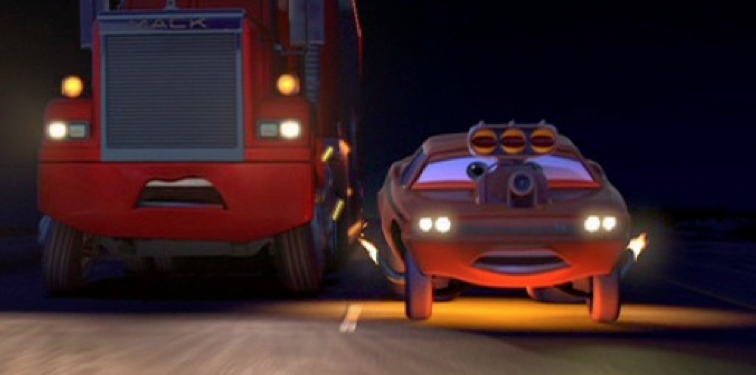 Dan The Pixar Fan Cars Snot Rod With Flames