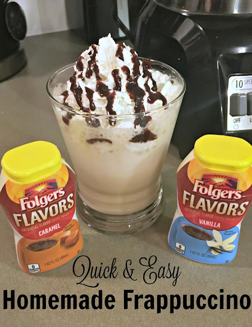 Folgers Flavors, #RemixYourCoffee, Easy Homemade Frappuccino