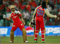 virat kohli images photos in ipl 2013 celebrating dancing with chris gayle