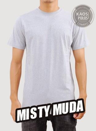 Kaos Polos Misty Muda