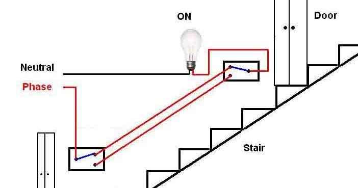 ee tym stair case wiring circuit