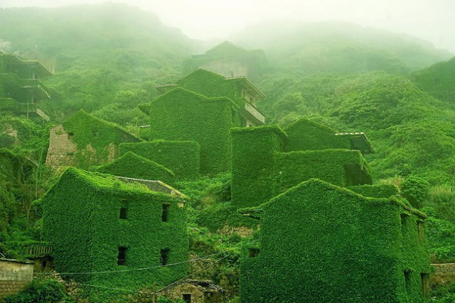 pueblo abandonado en China