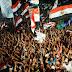 متظاهرى رابعه العدوية يهتفون يسقط يسقط حكم المرشد