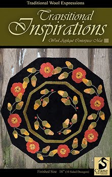Transitional Inspirations Wool Applique Centerpiece Mat 16""