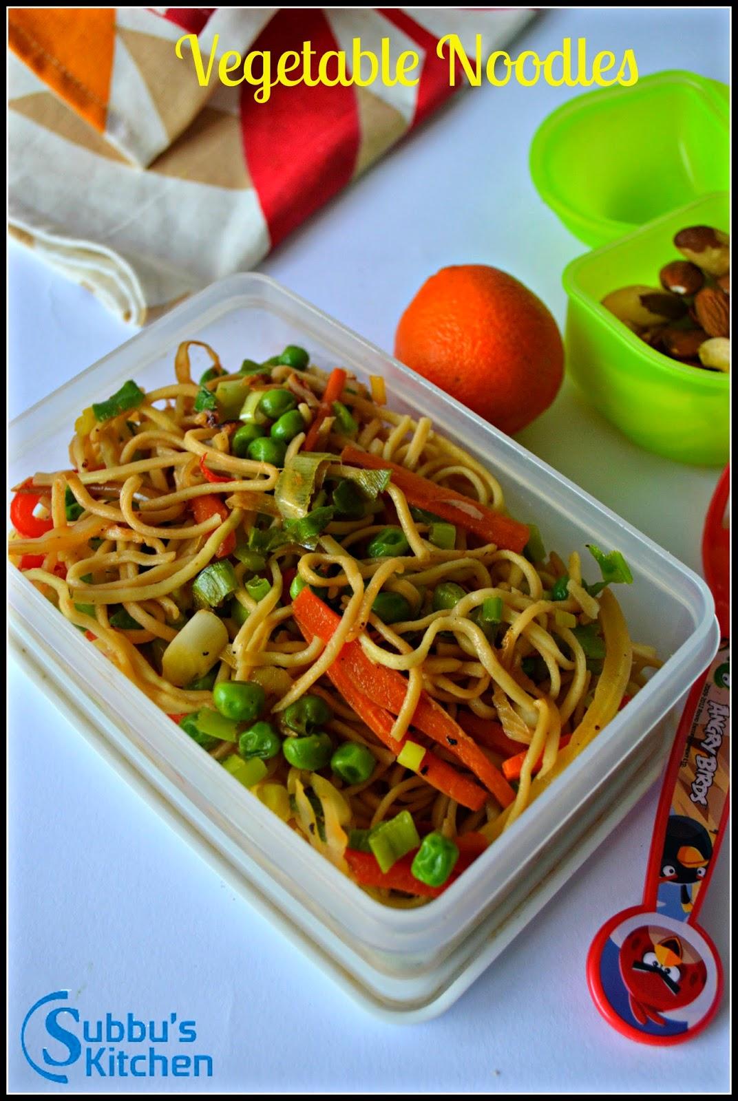 Vegetable Noodles   Kids Lunchbox Recipes