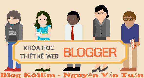 Series học thiết kế website trên nền Blogspot