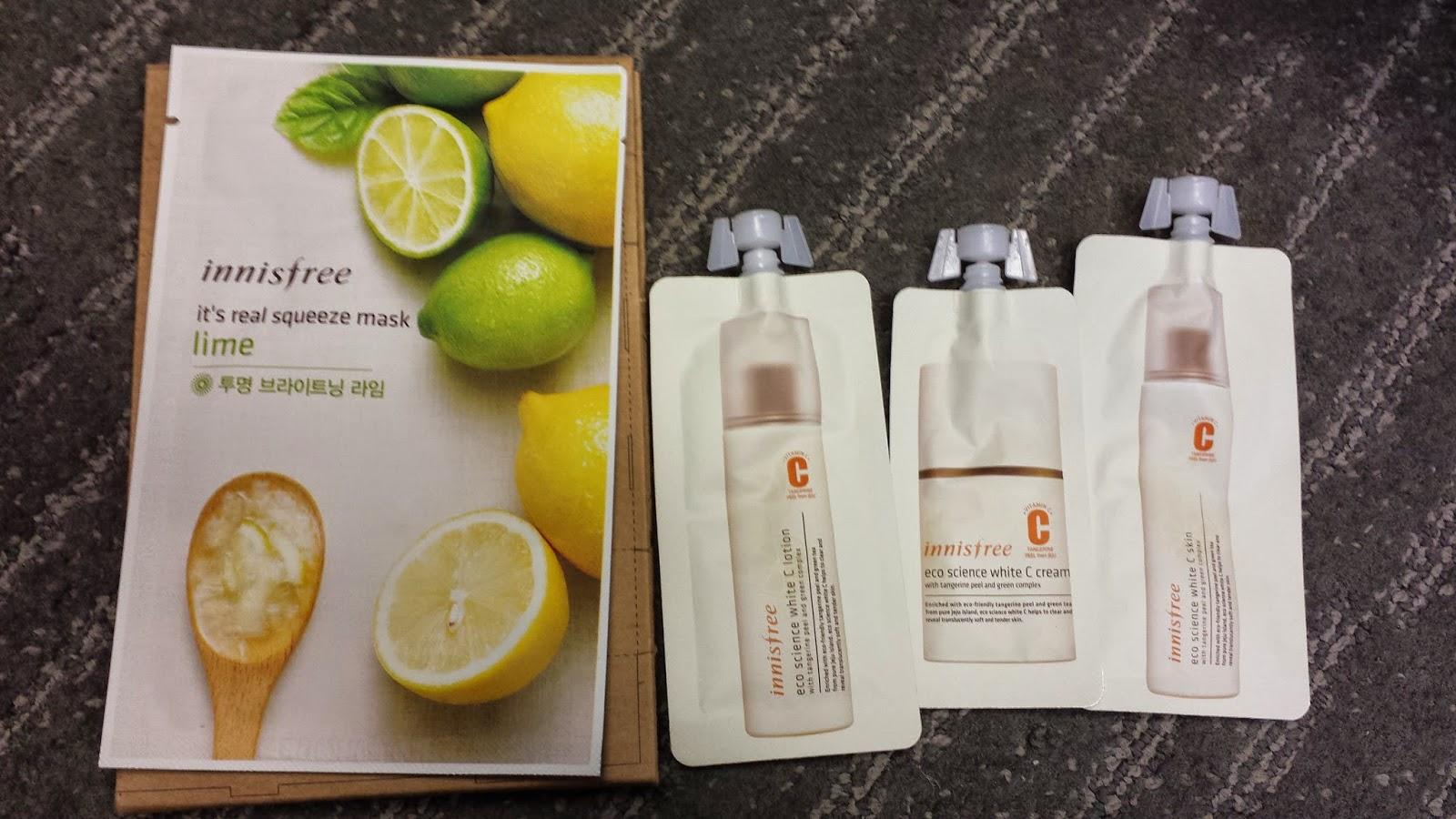 Crafting Deeds And Much Ramblings Innisfree Haul Real Squeeze Mask Lime Tangerine Peel Solutions Kit Gift