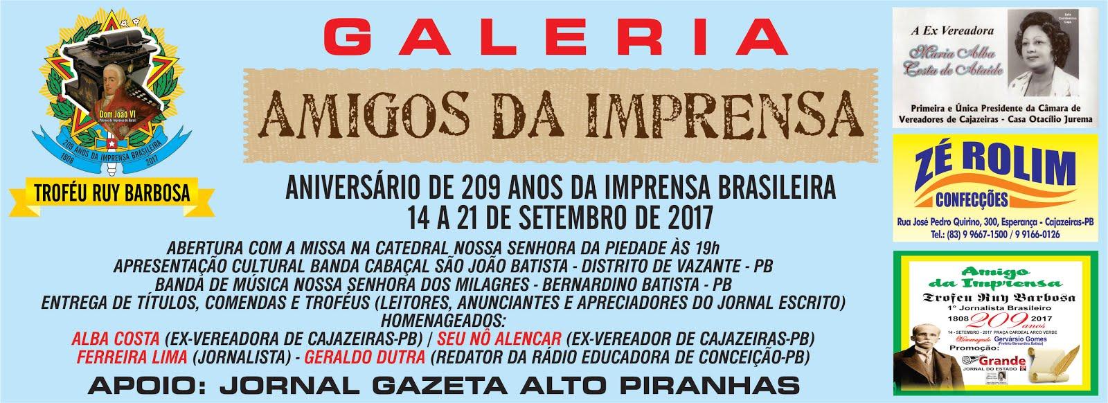 ESTAMOS COMEMORANDO OS  209 ANOS DA IMPRENSA ESCRITA DO BRASIL