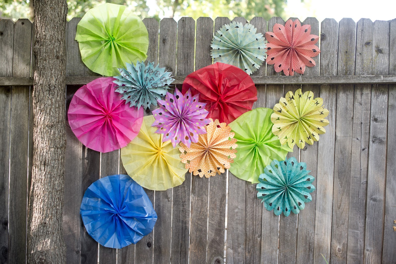 how to make birthday decorations out of tissue paper