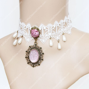 http://www.lolitadressesonline.com/pink-vintage-punk-pearls-and-rose-lace-lolita-necklace-p-741.html