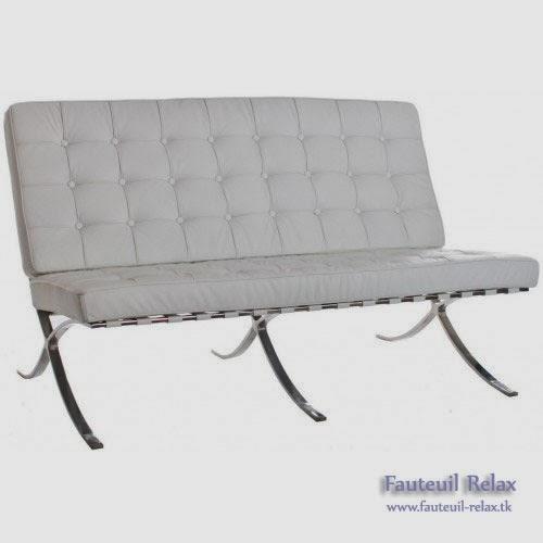 Fauteuil barcelona en cuir italien blanc fauteuil relax - Fauteuil cuir italien ...