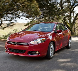 2013 Dodge Dart sedan front three quarter red
