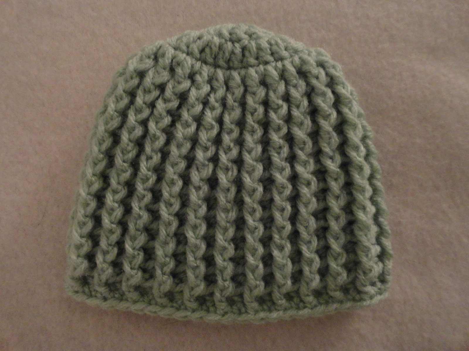 Crochet Crazy Mama: Crochet Ribbed Baby Hats