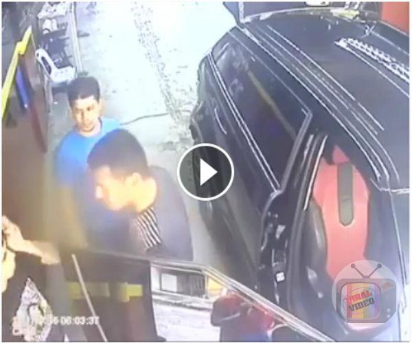 [VIDEO] Belasah Bangla Carwash Kerana Duduk Kerusi Kereta Range Rover