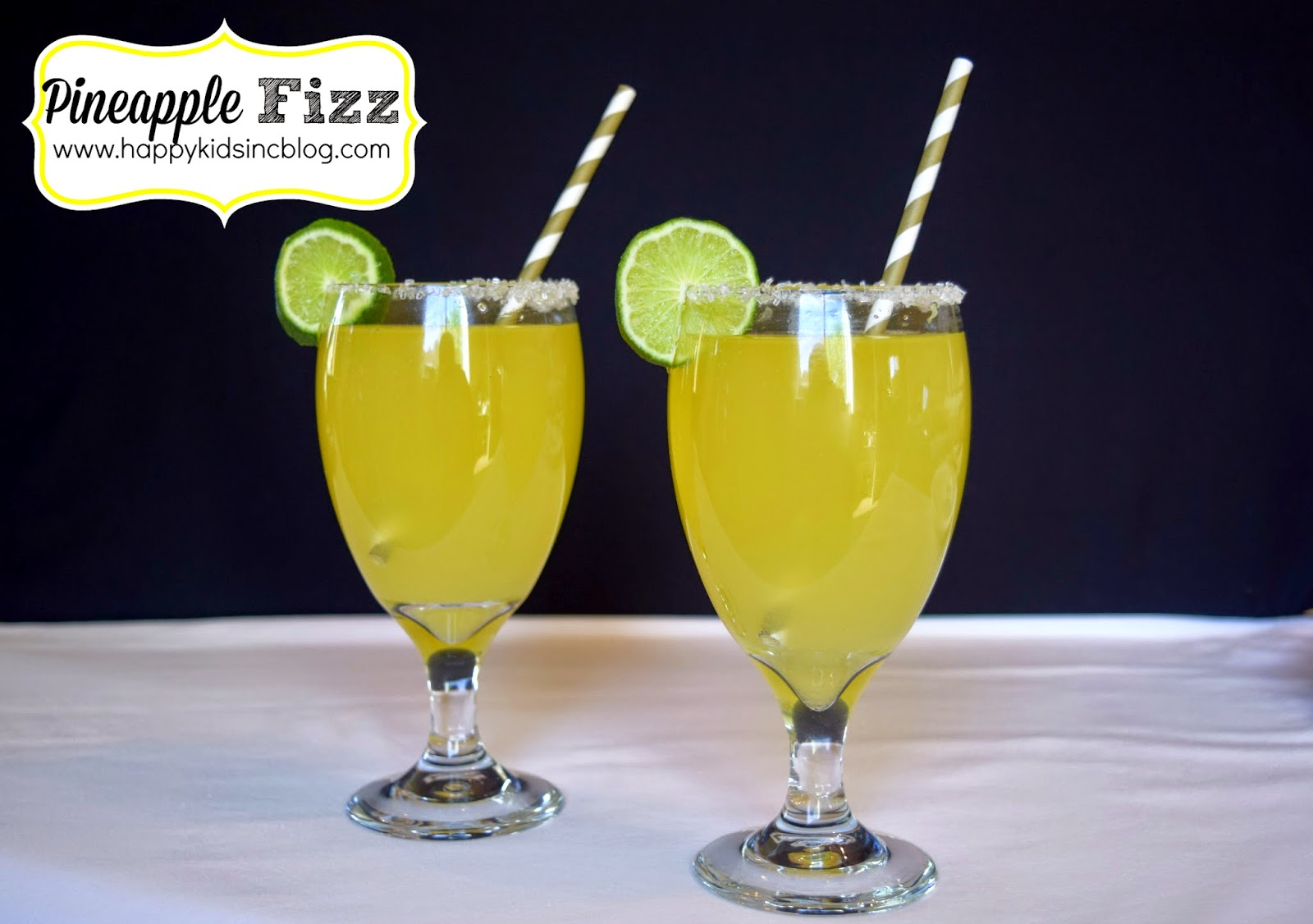 Pineapple Fizz Mocktail Made With Delicious Organic Non-GMO Veri Soda