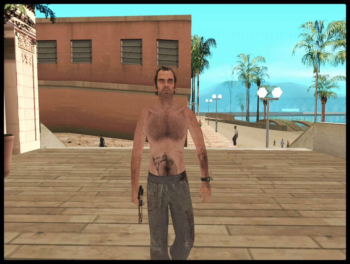 GTA SA - Skin Do Trevor Phillips Convertido Do GTA V