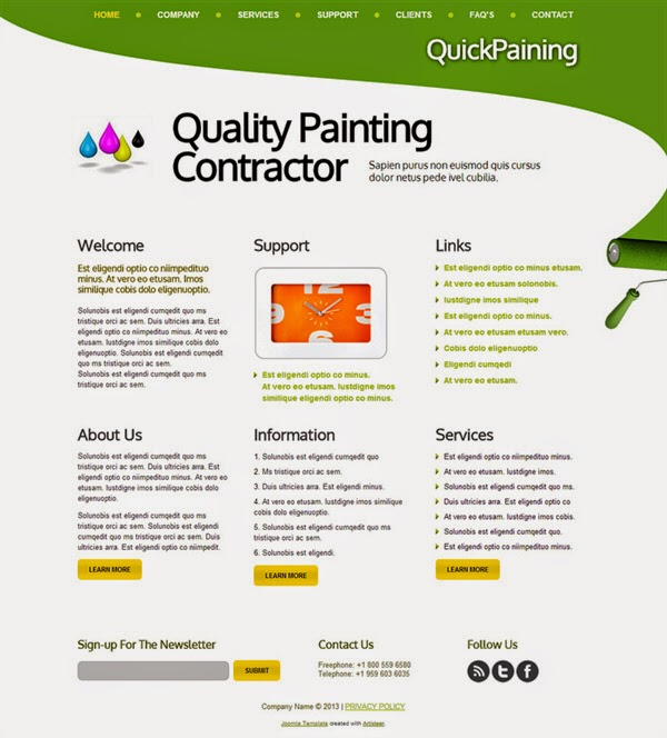 Quality Painting Contractor - Free Joomla! Template