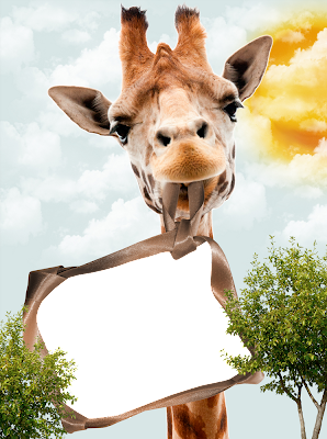 borde de foto jirafa