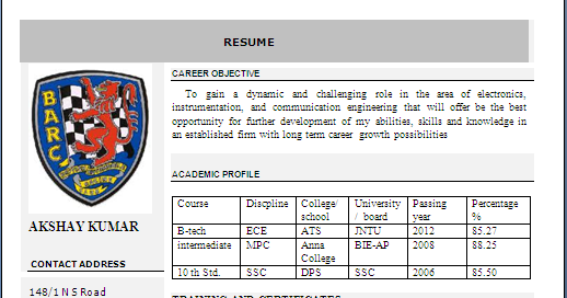 resume formats  beautiful resume format in word -