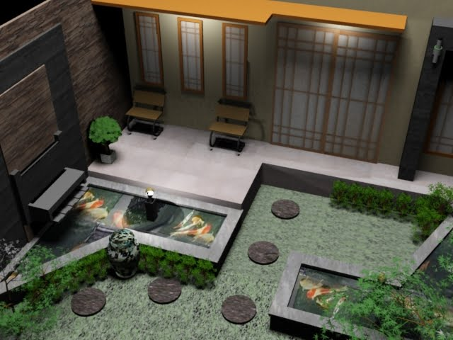 Lanospace fish pond for minimalis home design for Fish pond at home