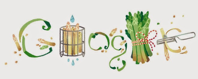 Start of Asparagus Season 2015 Google Doodle