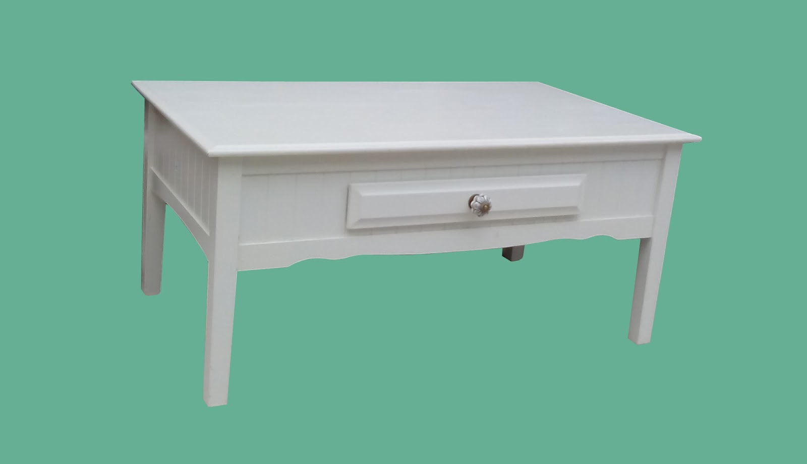 Uhuru Furniture Collectibles White Painted Coffee Table 75 55 Sold