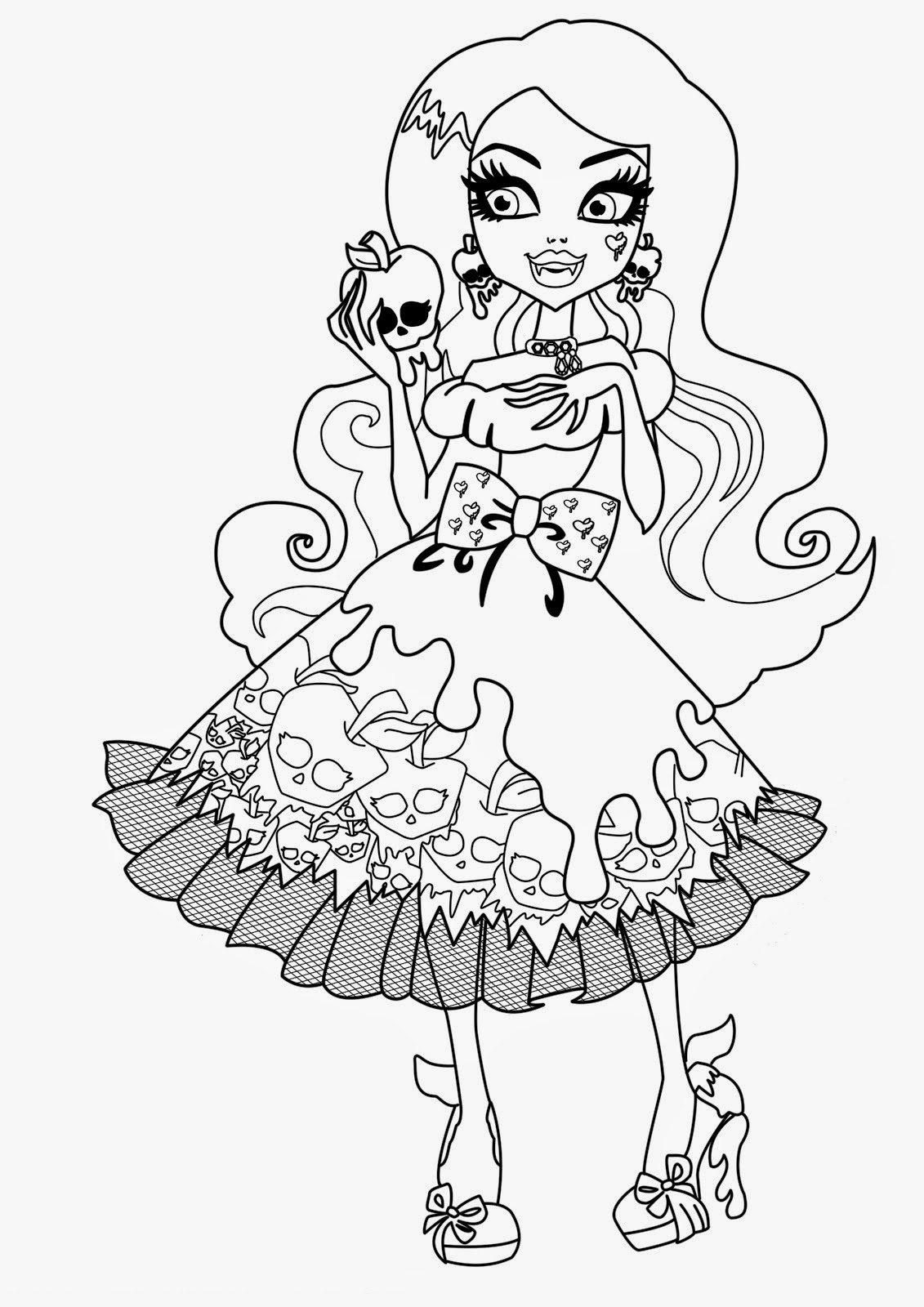 This is a photo of Gargantuan Free Printable Monster High Coloring Pages
