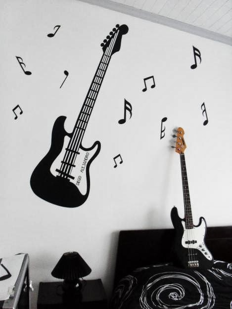 Neo arquitecturaymas rock roll para decorar lueces for Vinilos decorativos instrumentos musicales
