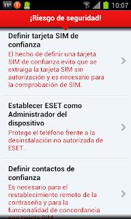 Riesgo de Seguridad ESET MS