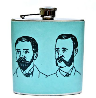 Ma Bicyclette: Buy Handmade | Whimsy and Ink Hip Flasks - Bearded Men Hip Flask