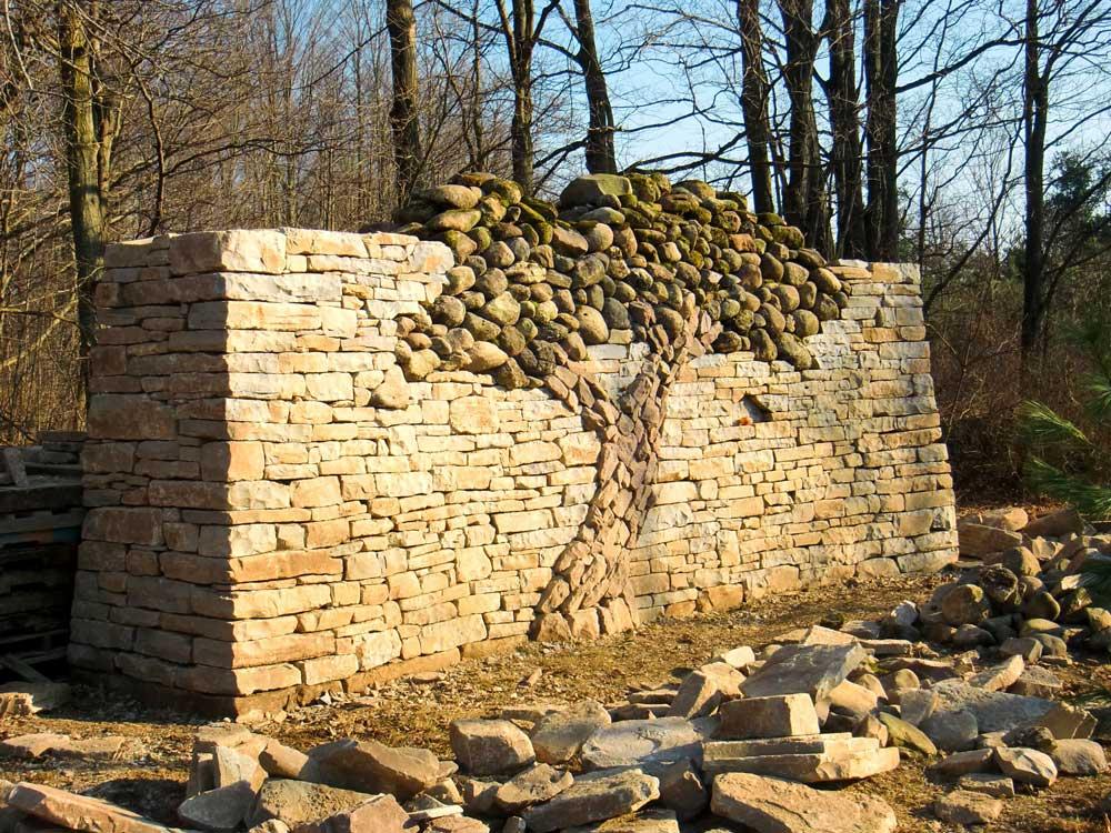Art Stone Walls : Stone art true love is set in