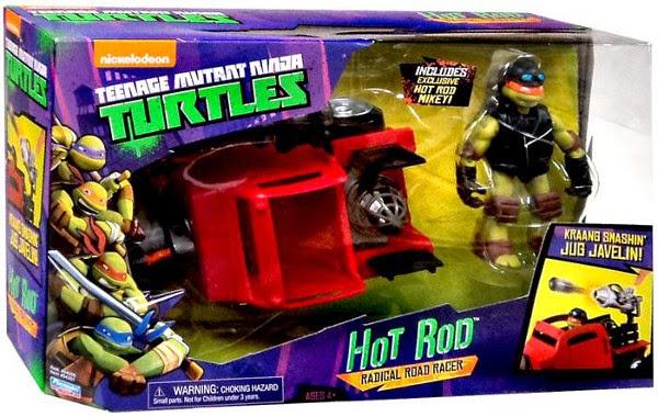 JUGUETES - LAS TORTUGAS NINJA  Hot Rod | Vehículo + Michelangelo   Teenage Mutant Ninja Turtles | TMNT | Nickelodeon  Producto Oficial 2015 | Playmates | A partir de 4 años