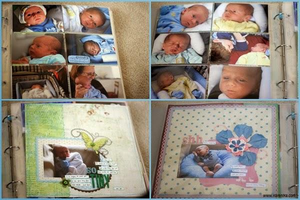 Premier album photo bébé mimi