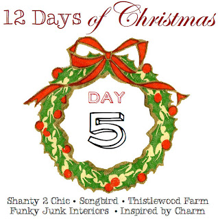 12 Days of Christmas day 5 at Funky Junk Interiors