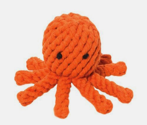 Elton the Octopus dog rope toy by Jax & Bones