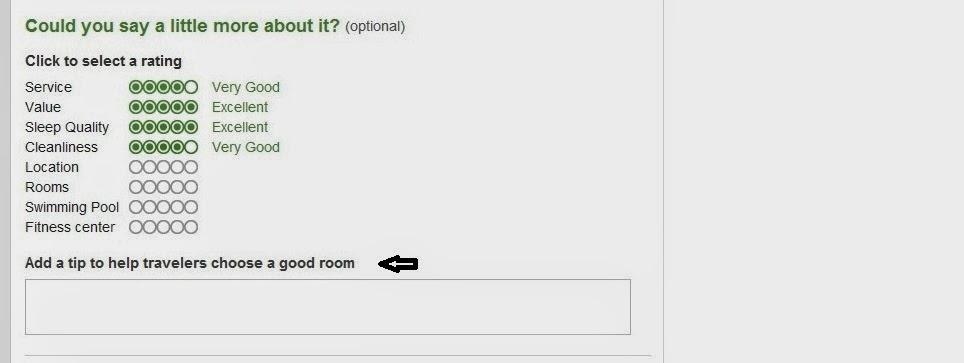 oceny poszczególnych aspektów hotelu
