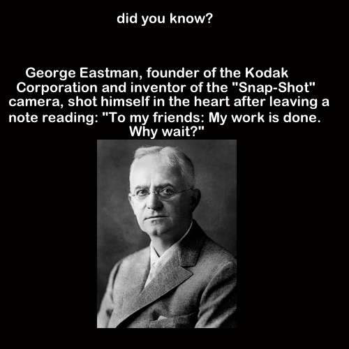 a biography of george eastman a founder of eastman kodak company Eastman a brief biography of the founder of eastman kodak company  the  journal of photography of the george eastman house, inc  vol ii, no8.