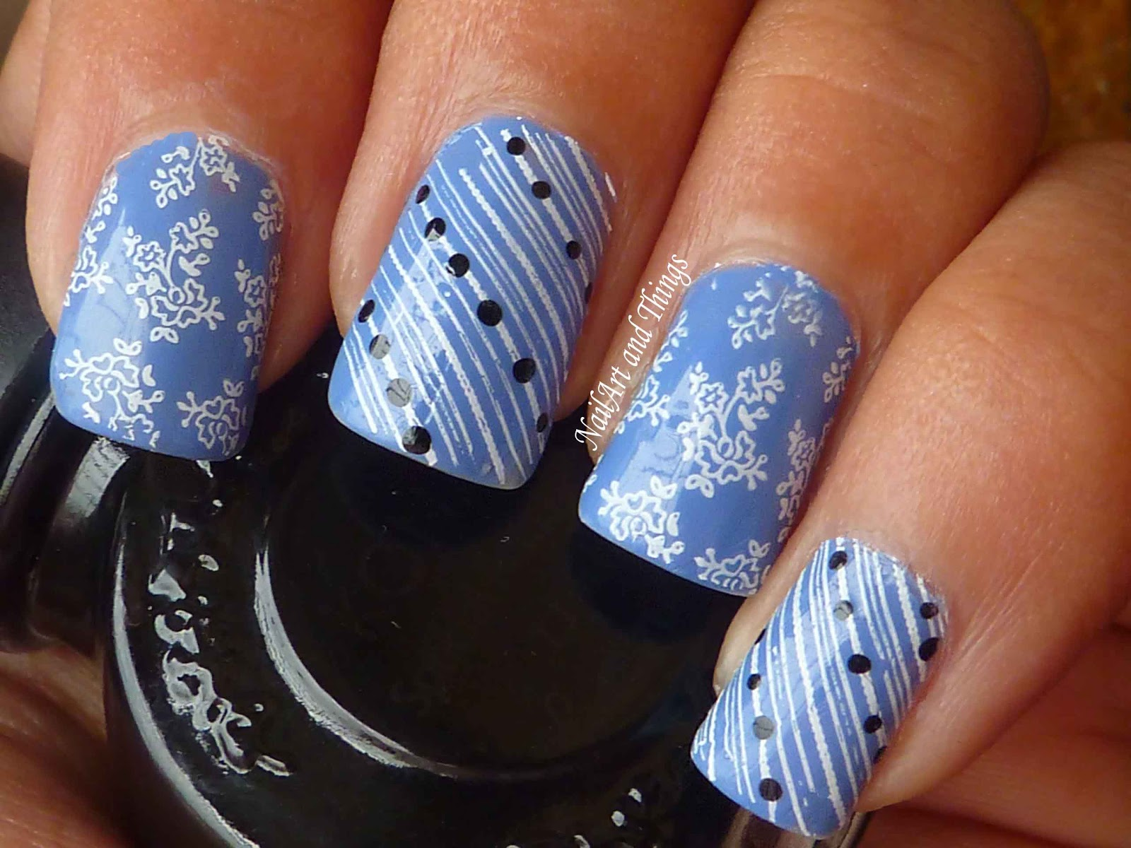 Nailart And Things Periwinkle Lace Nail Art