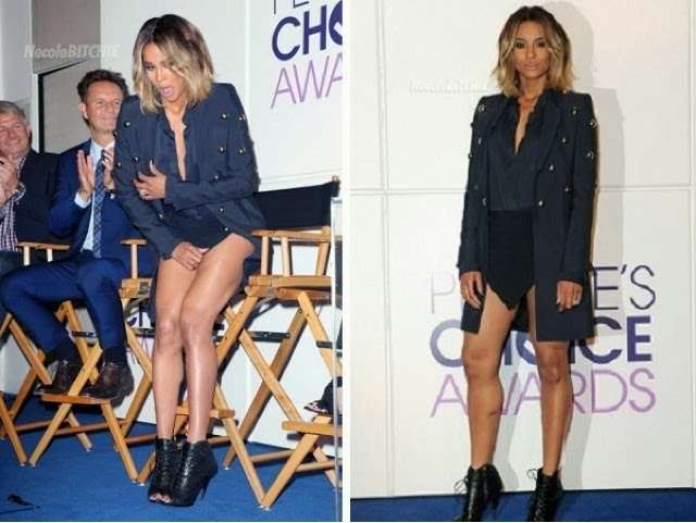 Ciara Shows off her Private Part As Her Short skirt Gives Way