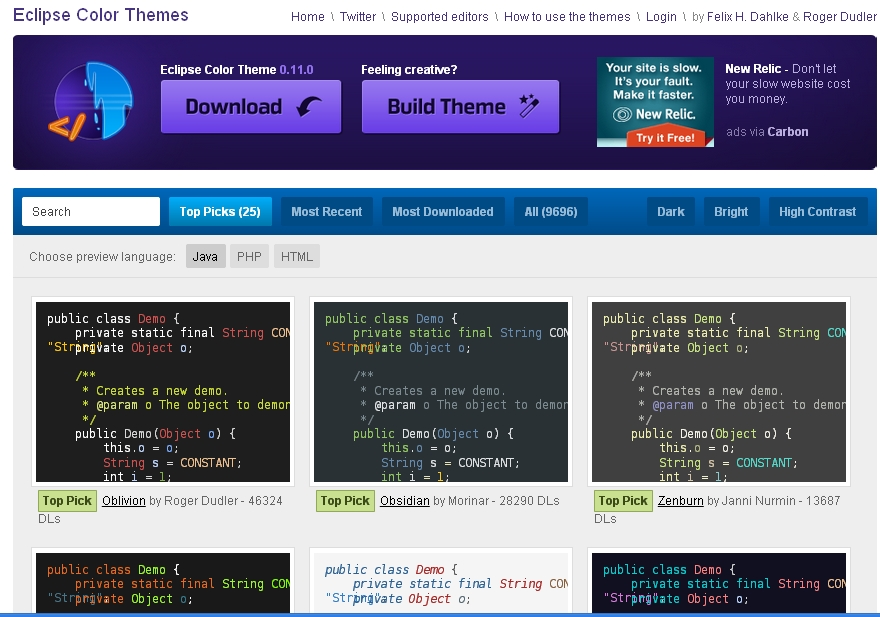 Eclipse ide theme  this page but eclipse theme not changed (but eclipse editor changed