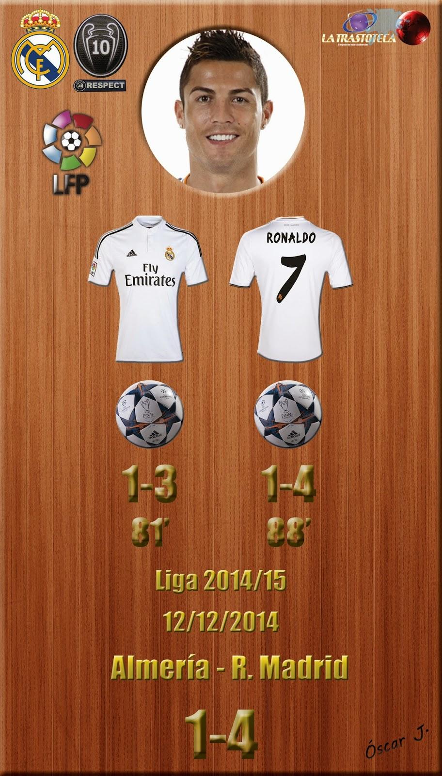 Cristiano Ronaldo (Doblete) - Almería 1-4 Real Madrid - Liga 2014/15 - Jornada 15 - (12/12/2014)